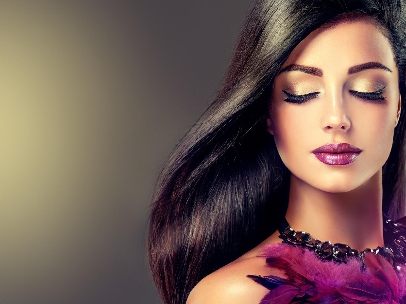 Fondos De Pantalla 1600x1200 Maquillaje Cara Pelo Hermoso