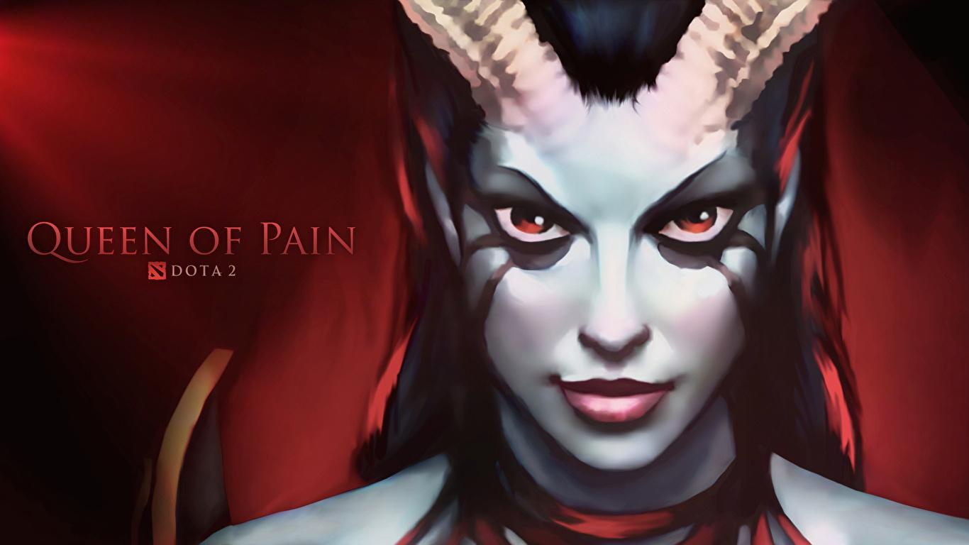 Photos Dota 2 Queen Of Pain Demon Horns Face Fantasy Vdeo