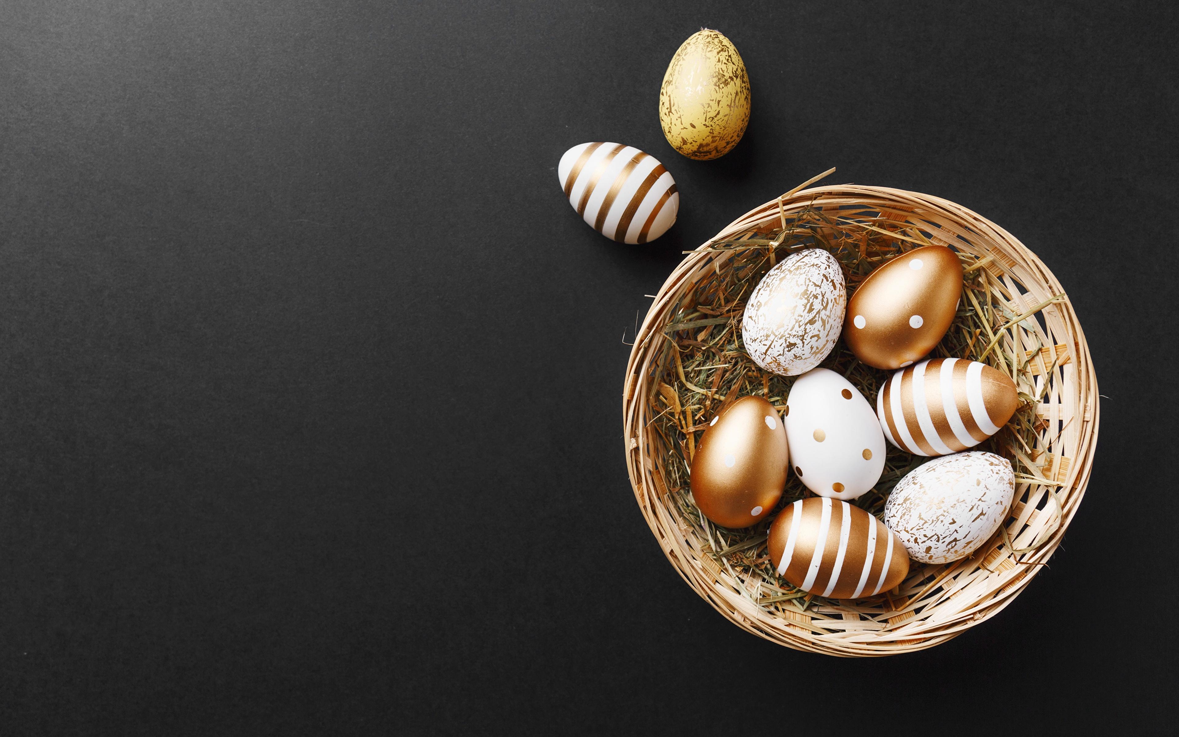Bilder von Ostern eier Weidenkorb 3840x2400 Ei