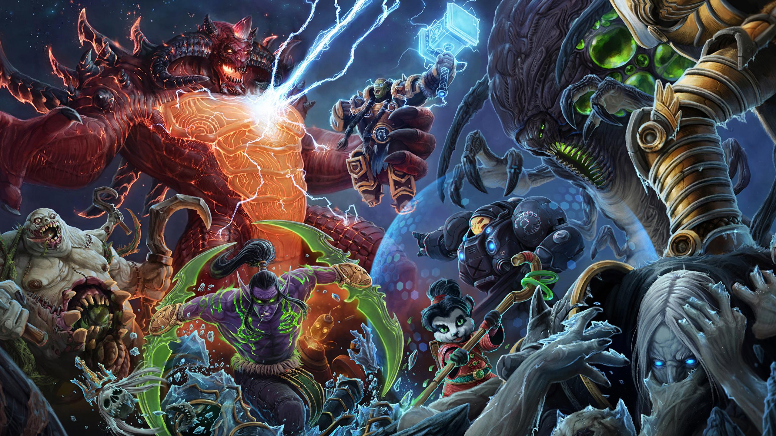 Pictures Wow Diablo Starcraft Heroes Of The Storm Warrior 2560x1440