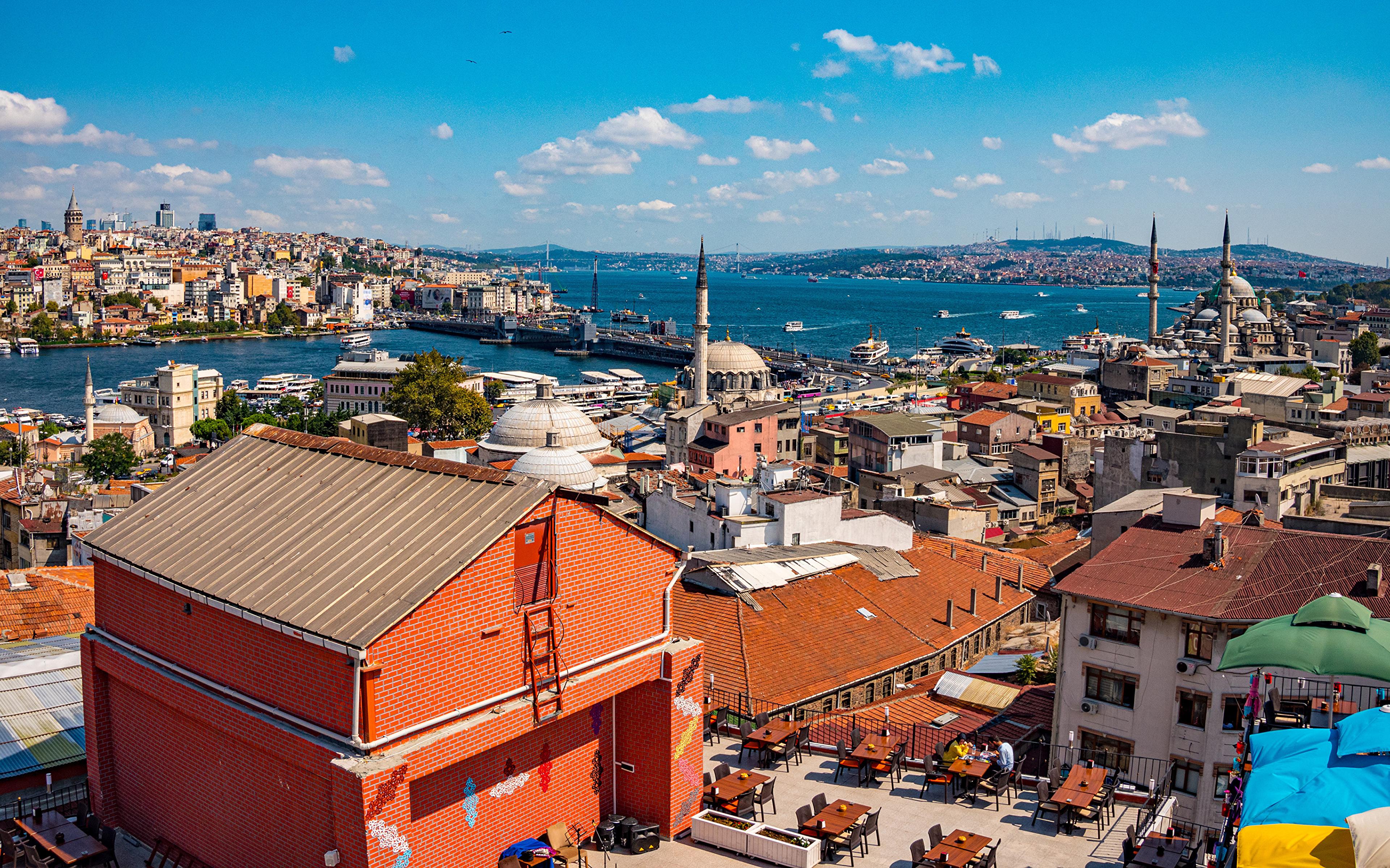 Fotos Istanbul Moschee Türkei Haus Städte 3840x2400 Gebäude