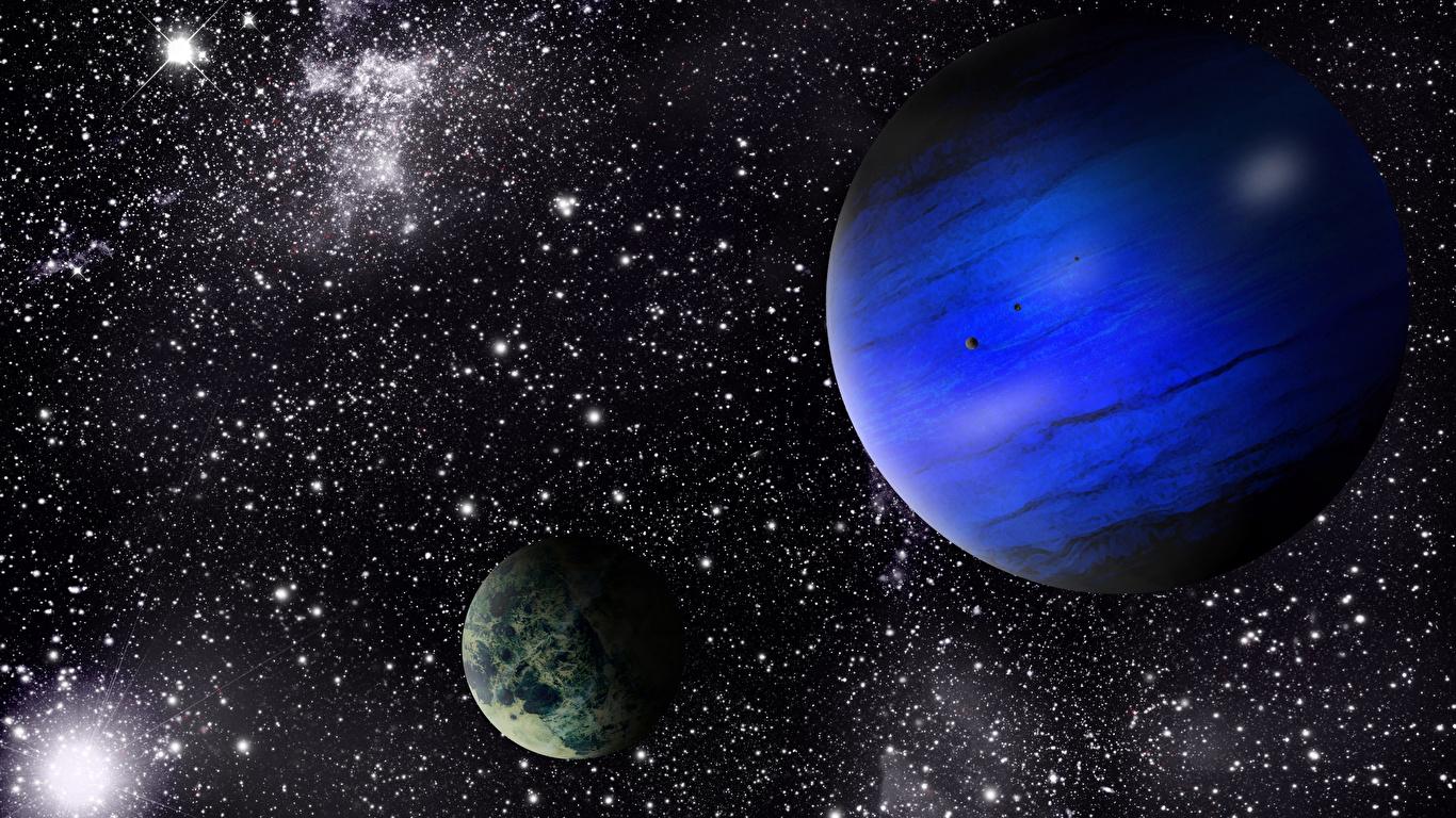 Desktop Wallpapers Stars Planet Space 3d Graphics 1366x768