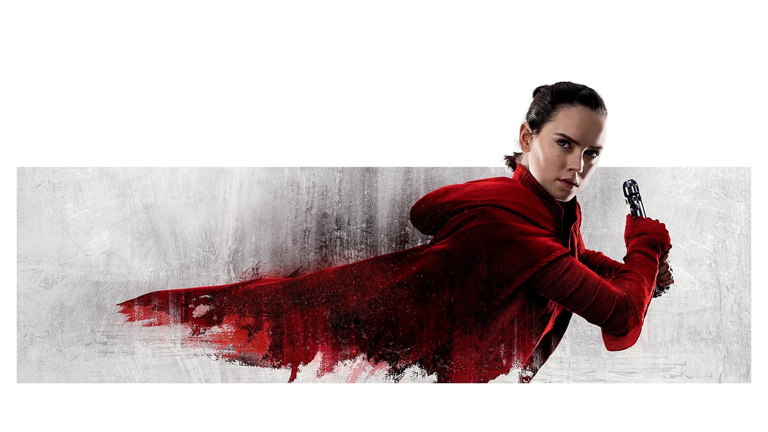Image Star Wars The Last Jedi Daisy Ridley Rey Female 2560x1440