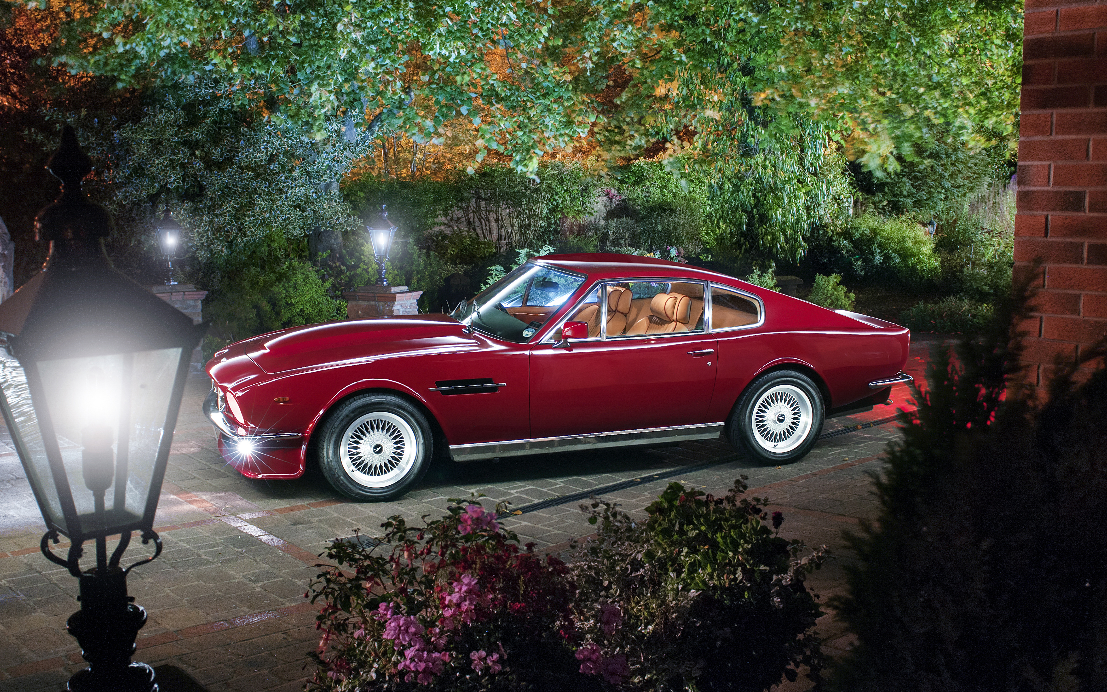 Papeis De Parede 3840x2400 Aston Martin Retro 1977 89 V8 Vantage Vermelho Metalico Carros Baixar Imagens