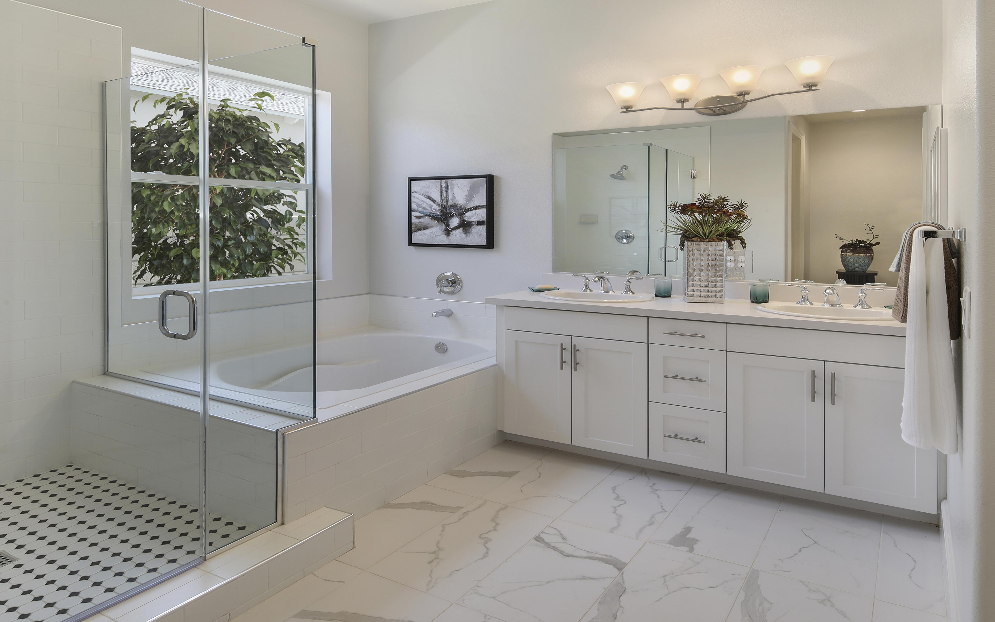Fondos de Pantalla 3840x2400 Diseño interior Cuarto de baño ...