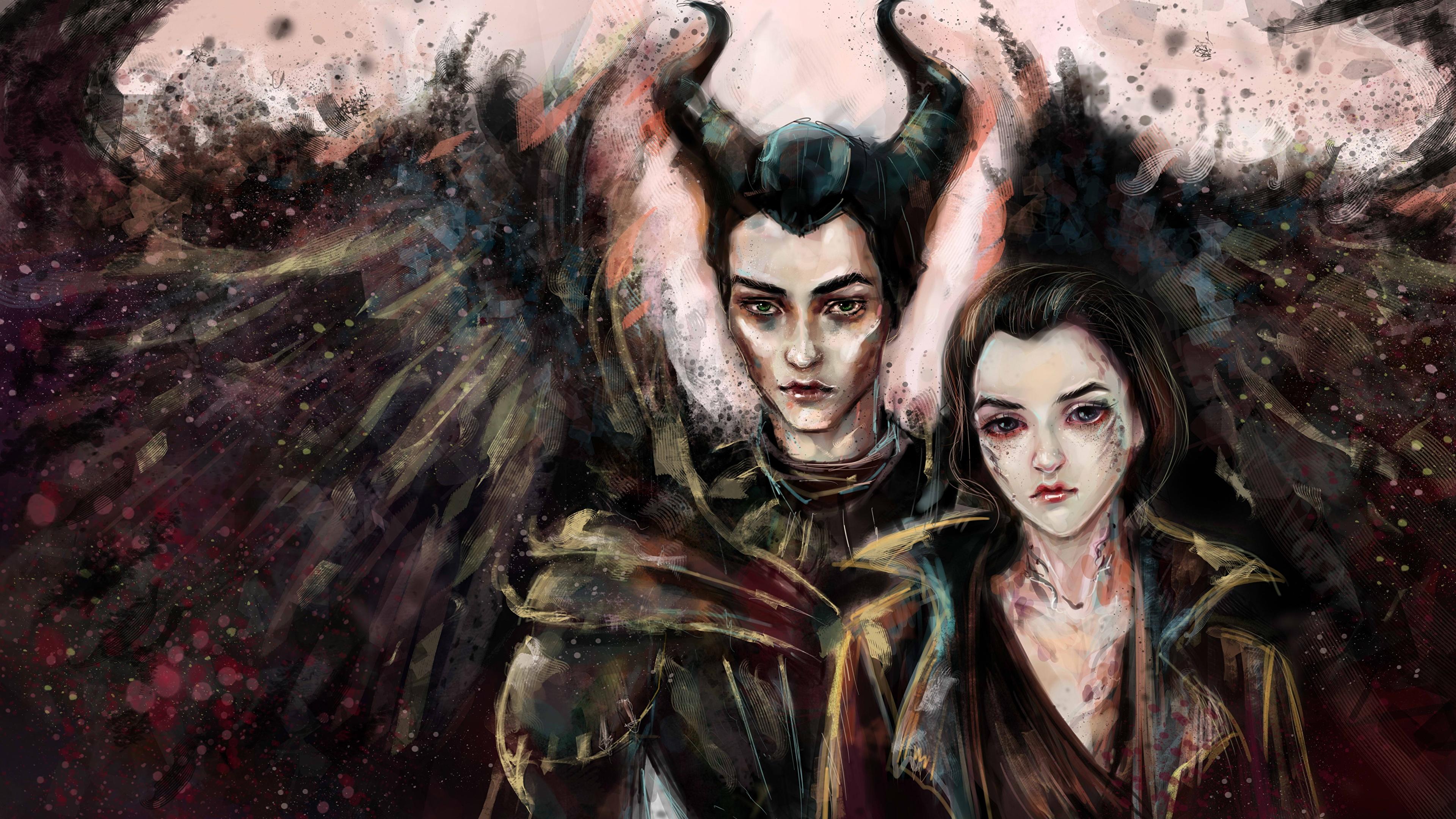 Fondos De Pantalla 3840x2160 Maleficent And Diaval Dos Ala