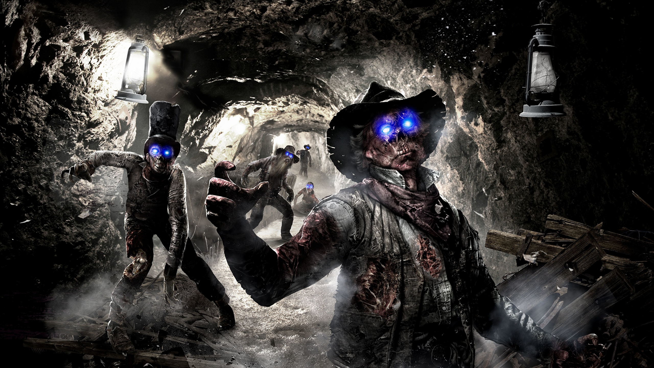 Wallpaper Call Of Duty Undead Black Ops 2 Hat Caves 3d 2560x1440