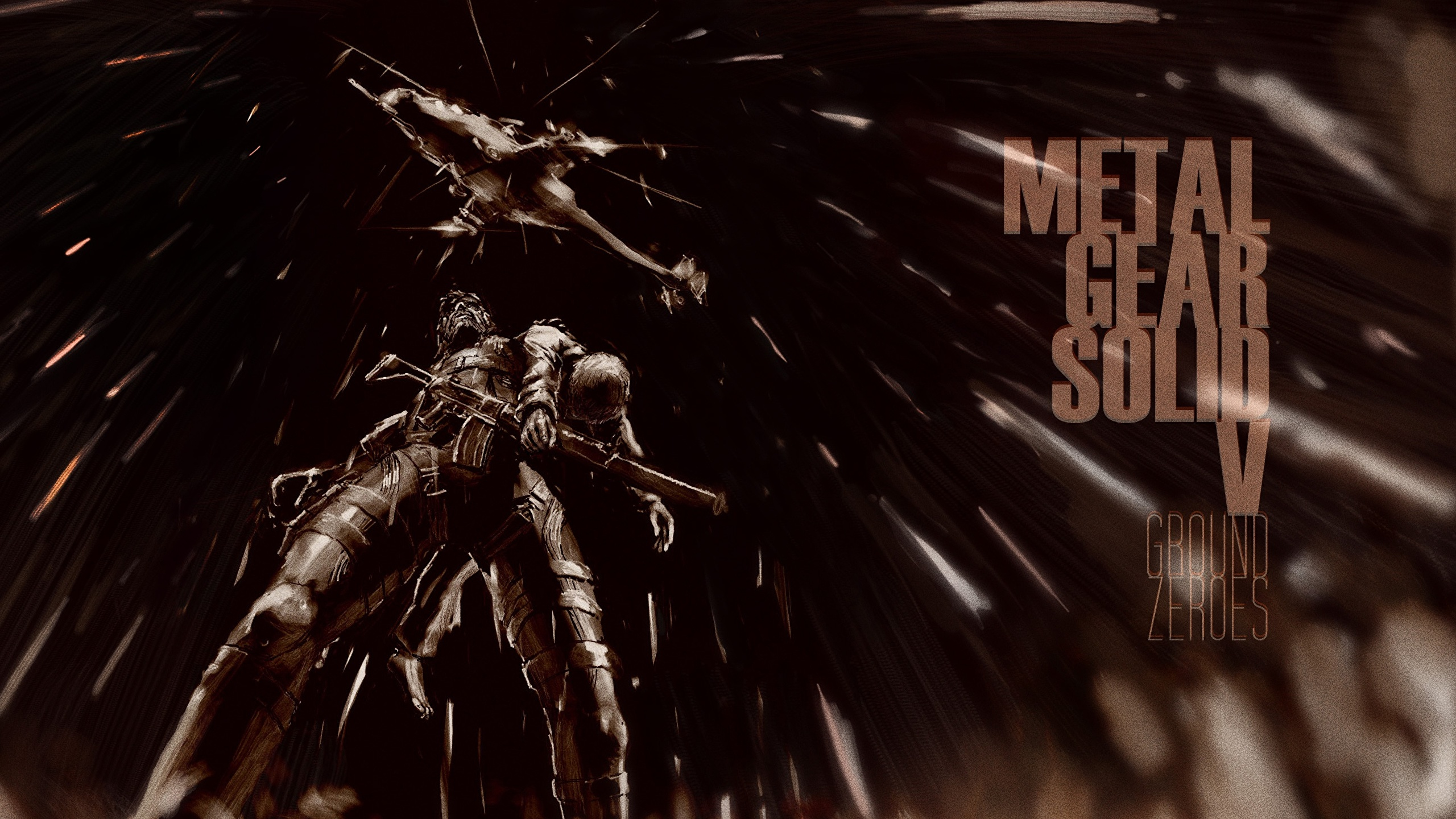 Wallpaper Metal Gear Solid V Solid Snake Games 2560x1440