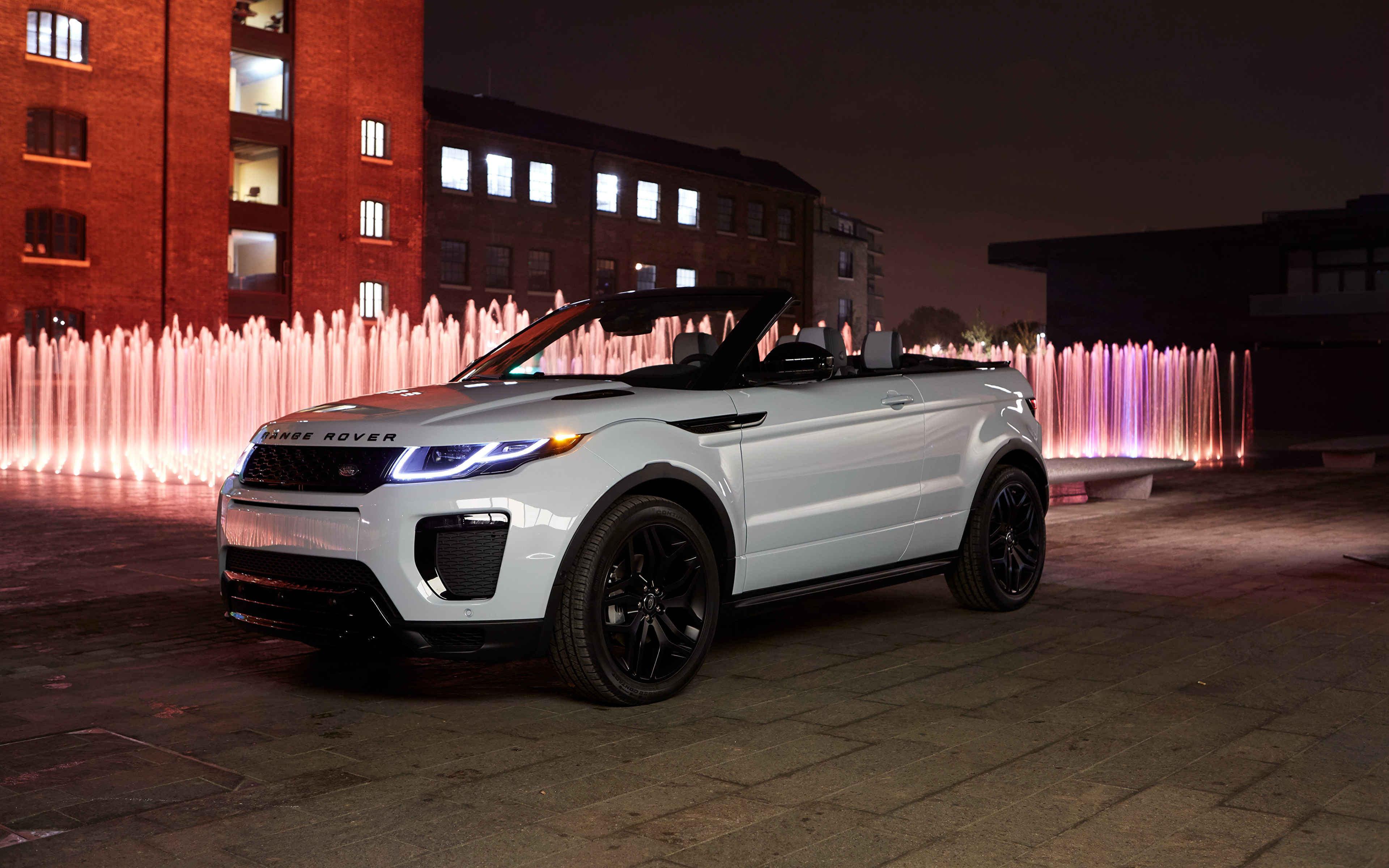 Pictures Range Rover Evoque Convertible White Auto 3840x2400 Land Cabriolet Cars Automobile