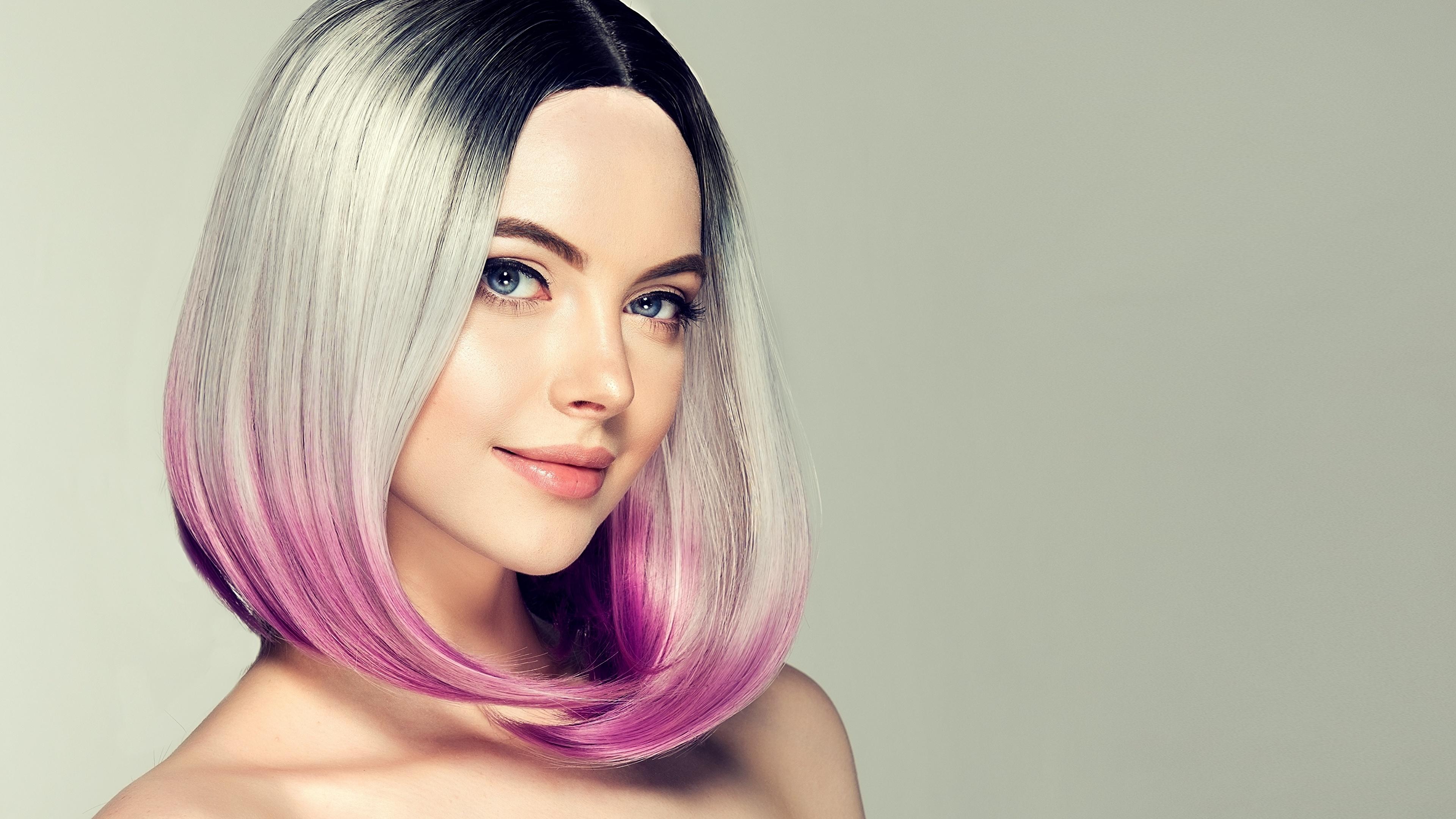 Desktop Wallpapers Girls Blonde Girl Makeup Hair Face 3840x2160