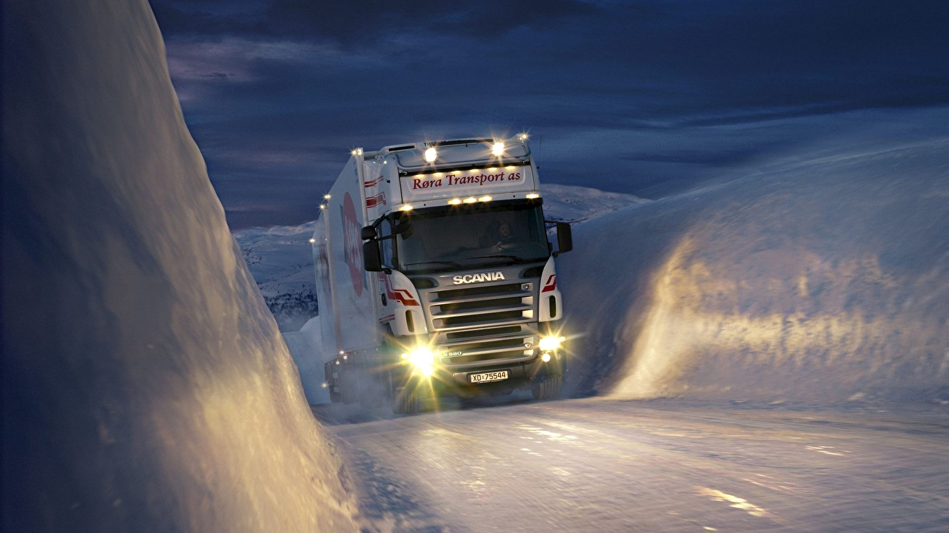 Desktop Wallpapers Scania Trucks Cars 1366x768