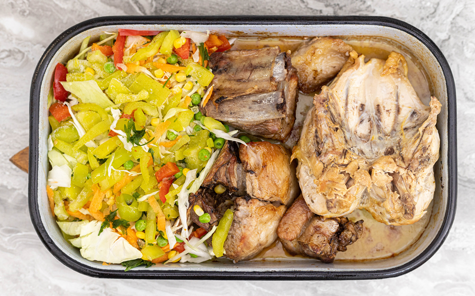 Picture Roast Chicken Food Salads Vegetables Meat products 1920x1200