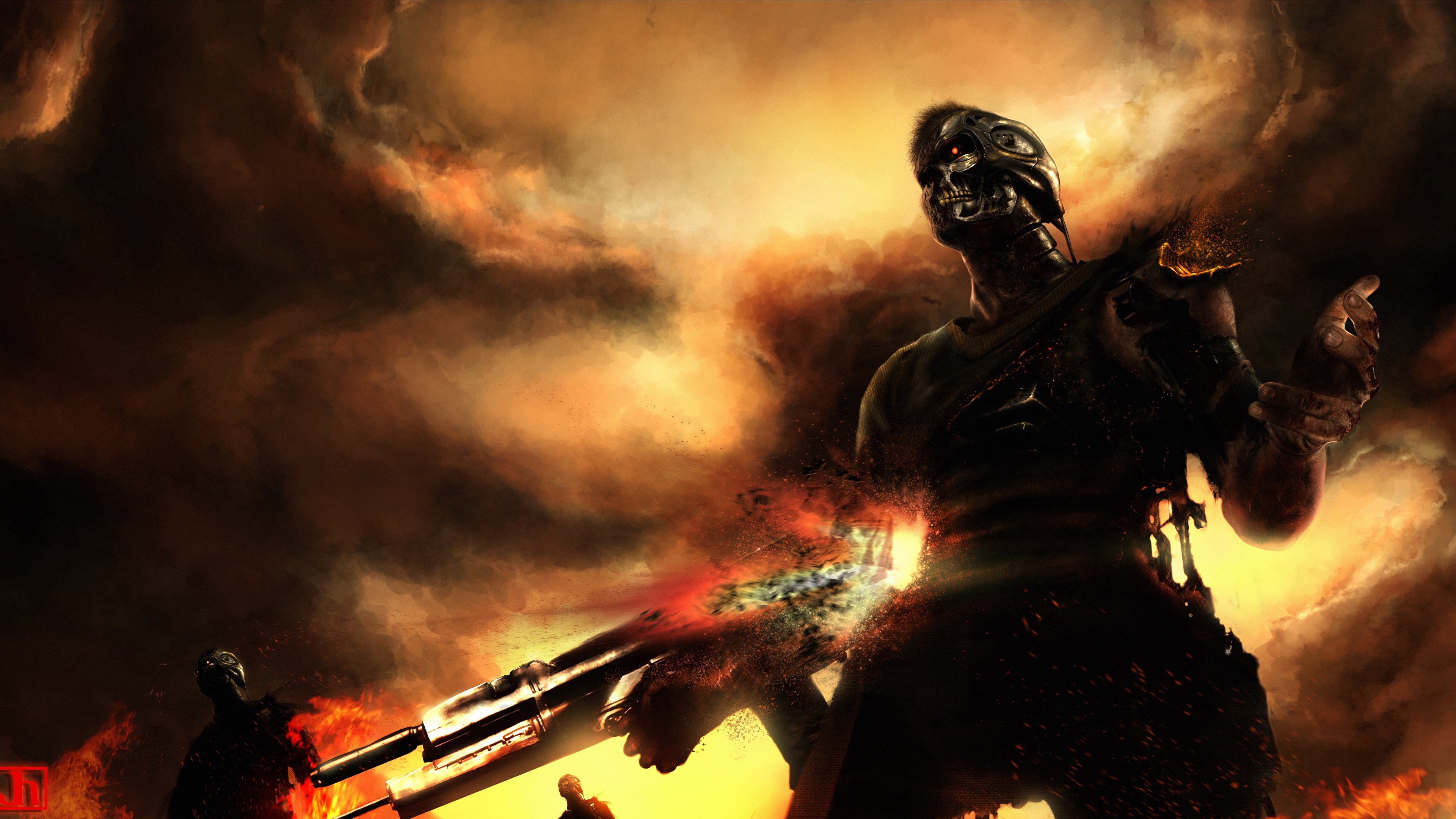 Desktop Wallpapers The Terminator Robots Fantasy Movies