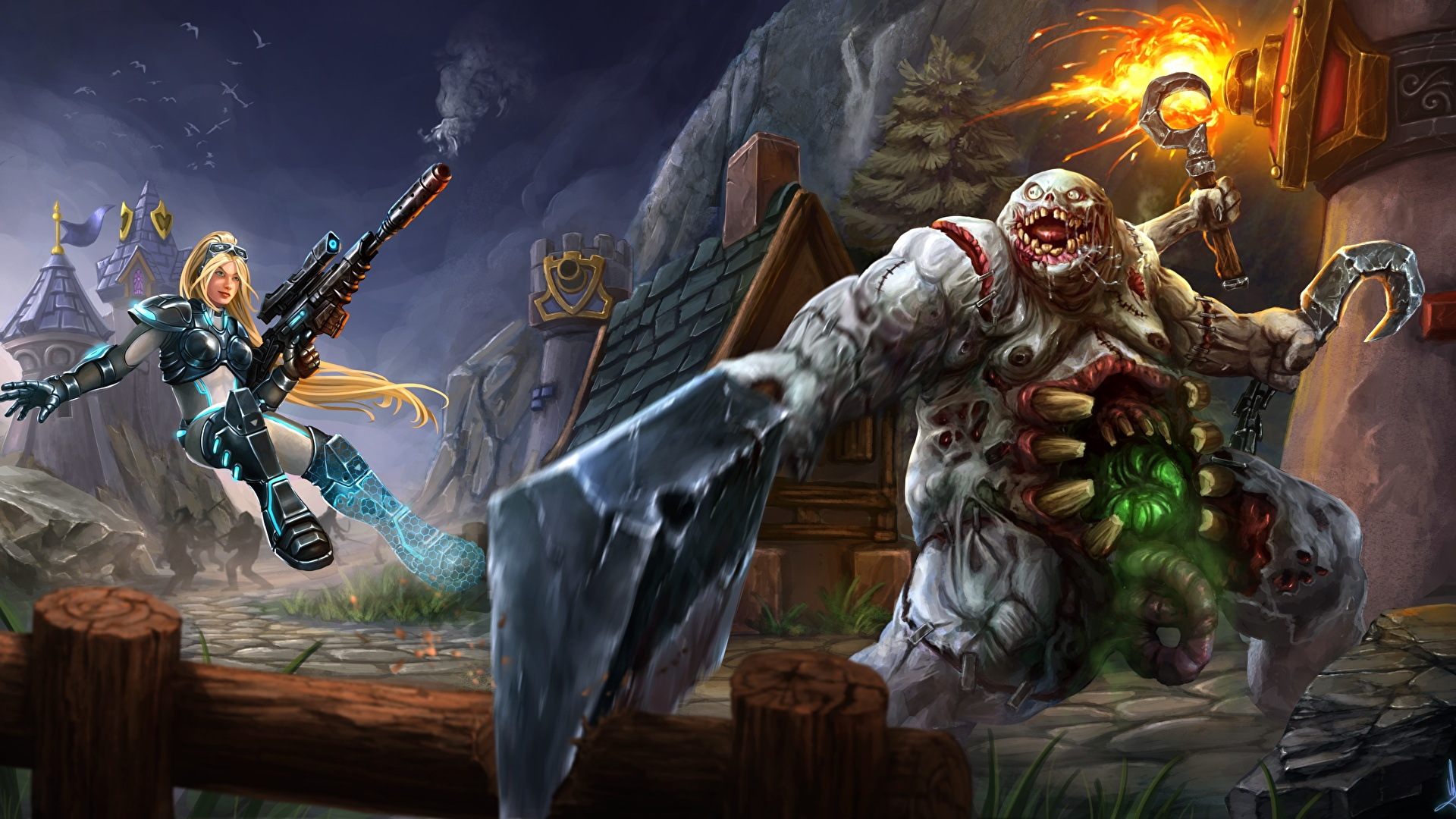 Image Monster Warriors Heroes Of The Storm Stitches 1920x1080