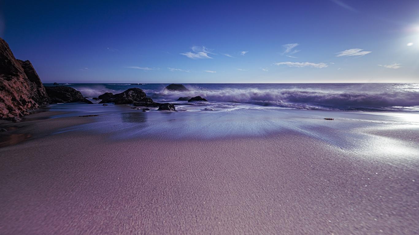 壁紙 1366x768 海岸 大洋 アメリカ合衆国 カリフォルニア州 自然 ダウンロード 写真