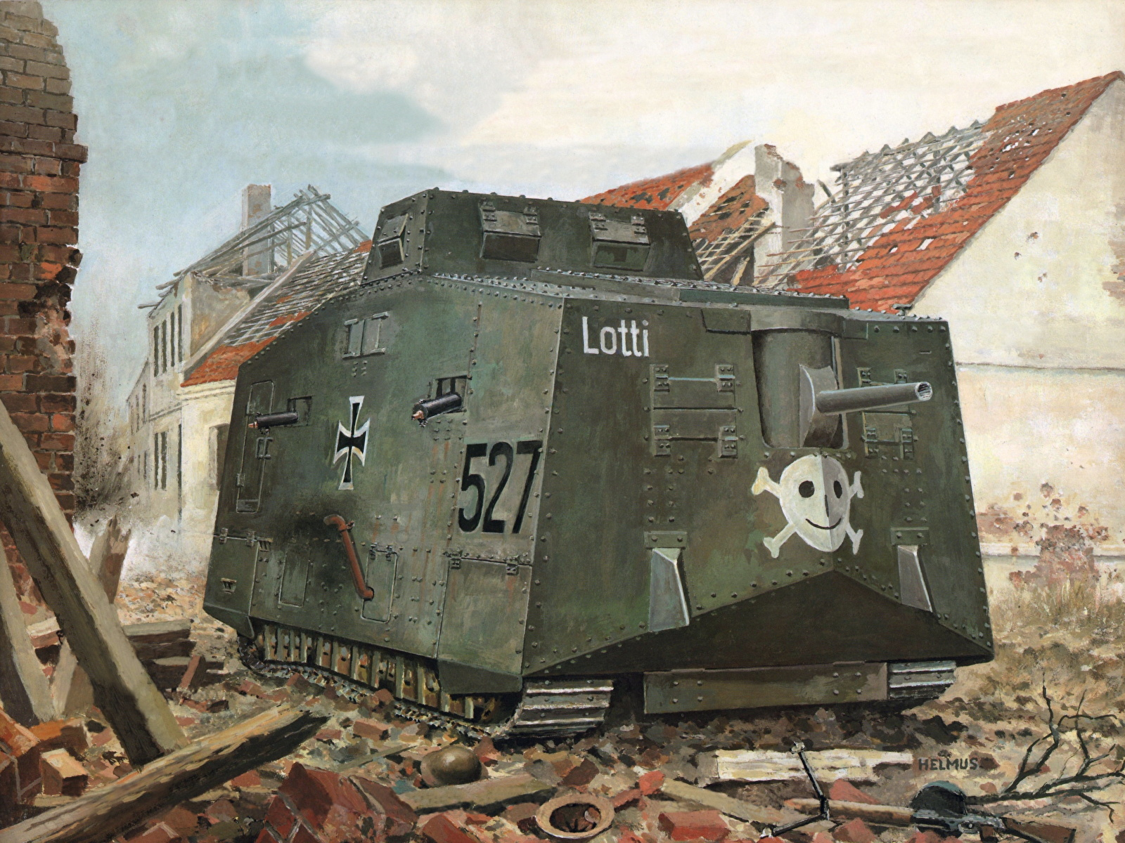 Photos A7v Lotti Painting Art Military 1600x1200