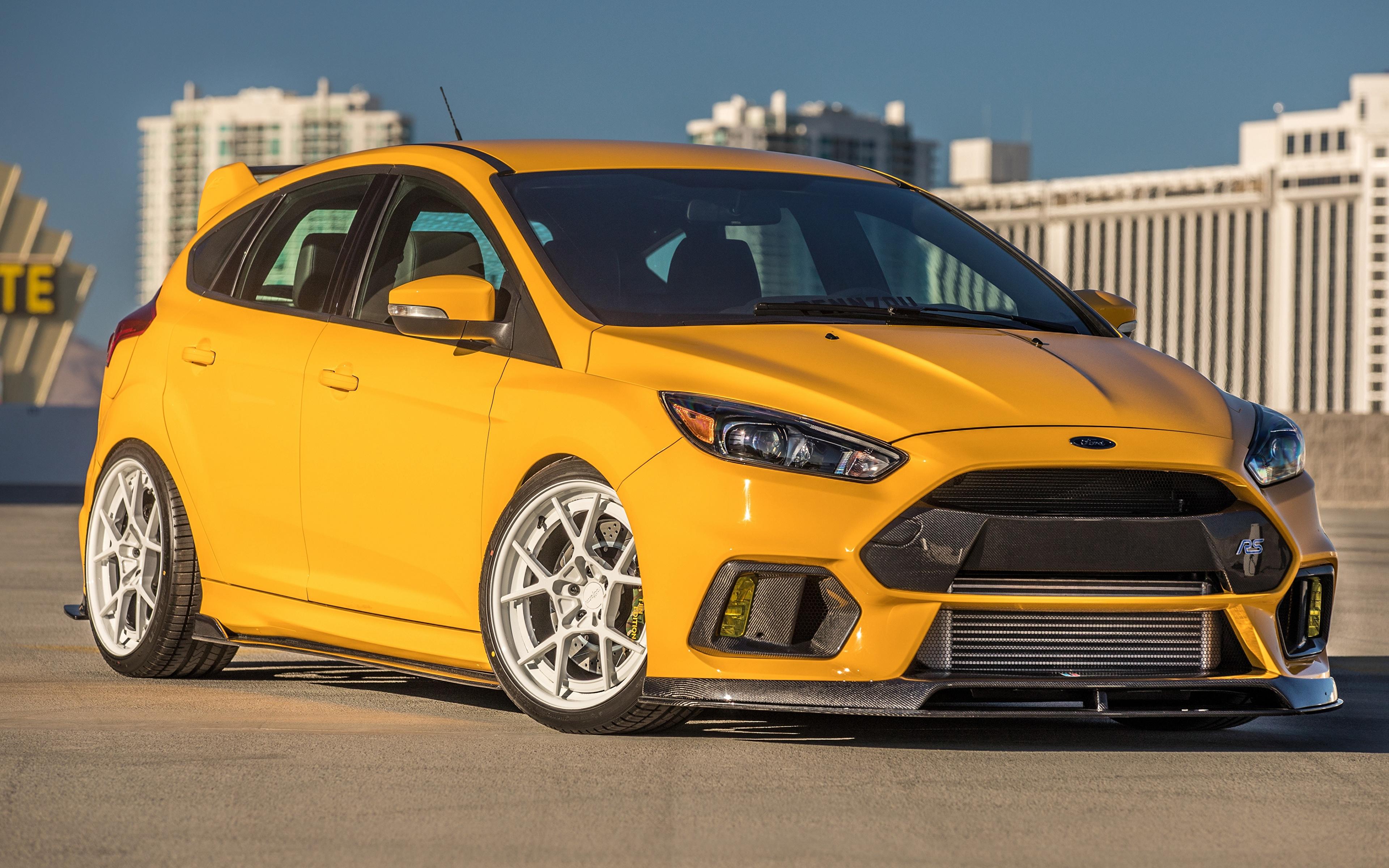 Fondos De Pantalla 3840x2400 Ford 2017 Uti Focus Rs Amarillo Metalico Coches Descargar Imagenes