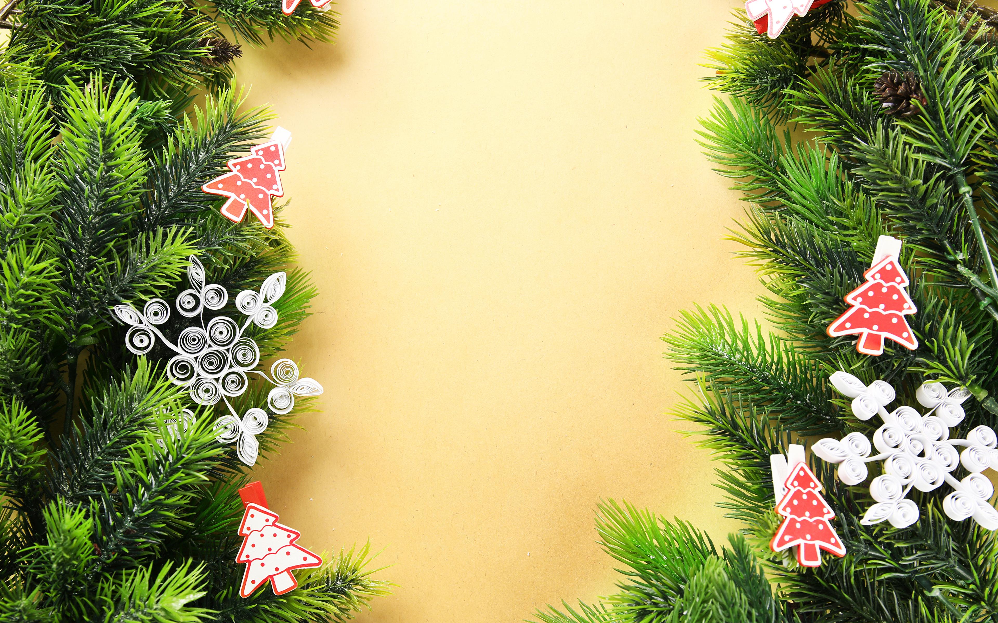 Weihnachtsbaum Ast.Fotos Von Neujahr Schneeflocken Weihnachtsbaum Ast Vorlage 3840x2400