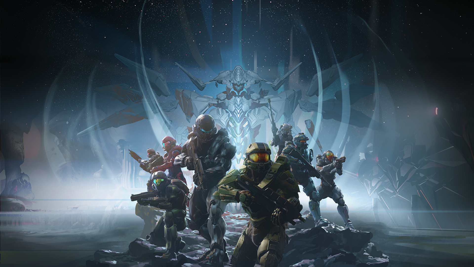 Wallpaper Halo Halo 5 Guardians Armour Warriors Fantasy 1920x1080