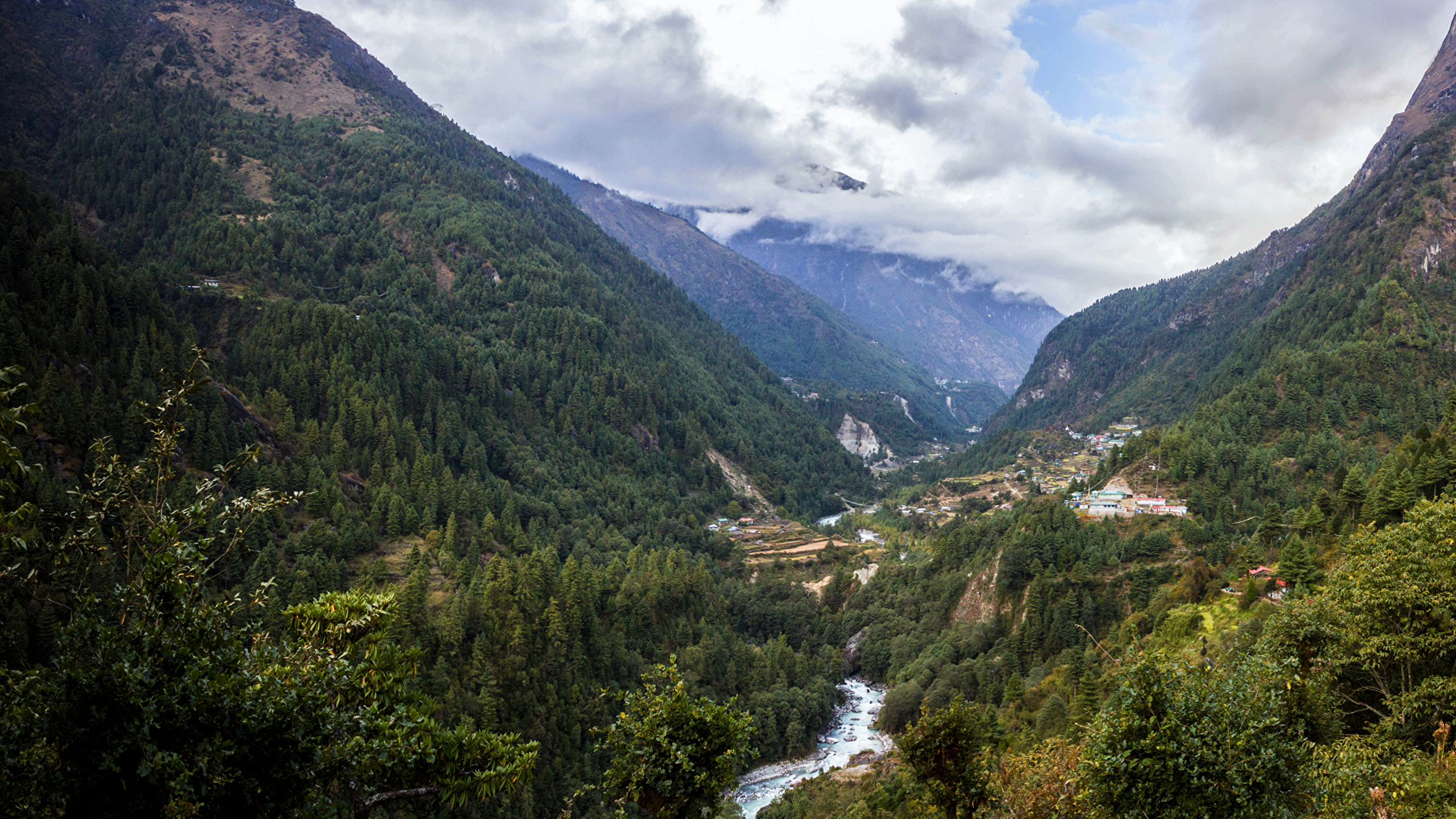 Photo Everest Nepal Nature Mountains Forests River 2560x1440