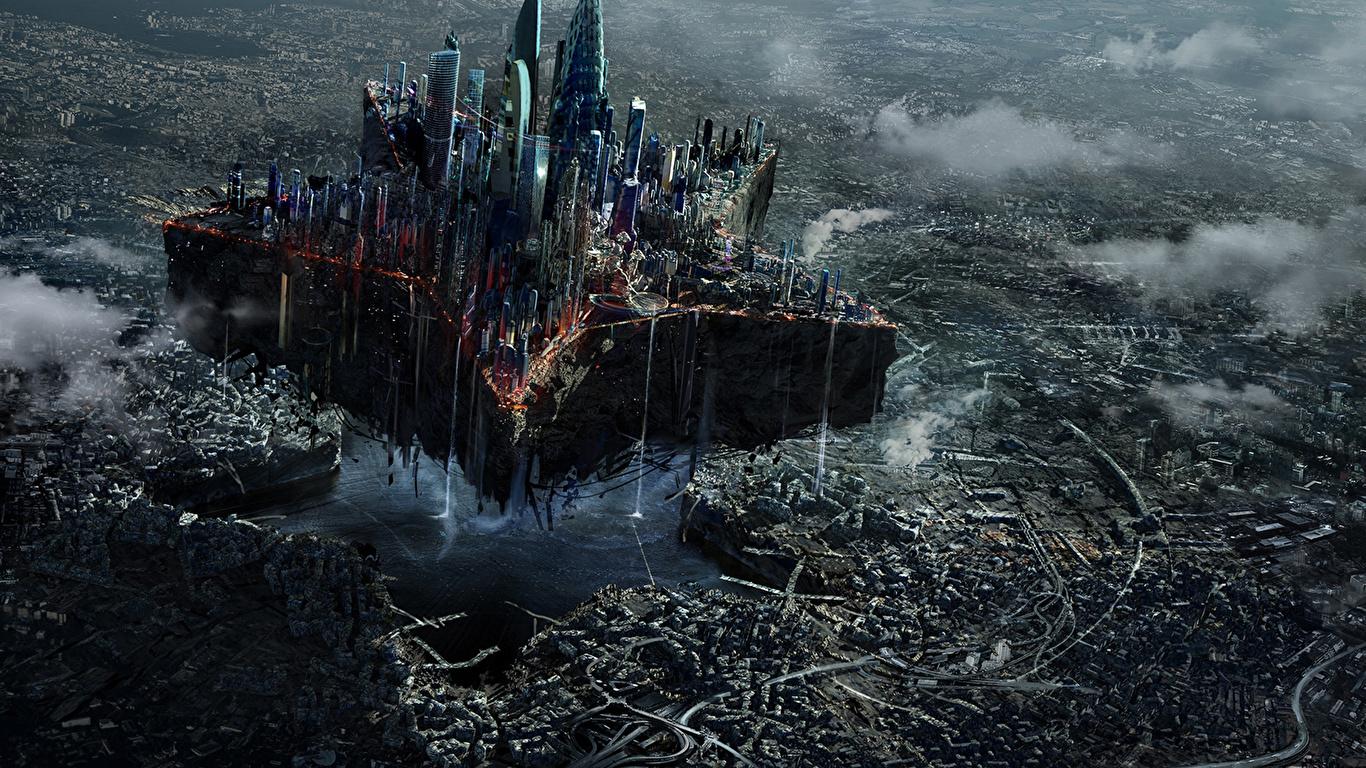 Image Moscow Fantasy Ruins Fantastic world Cities 1366x768