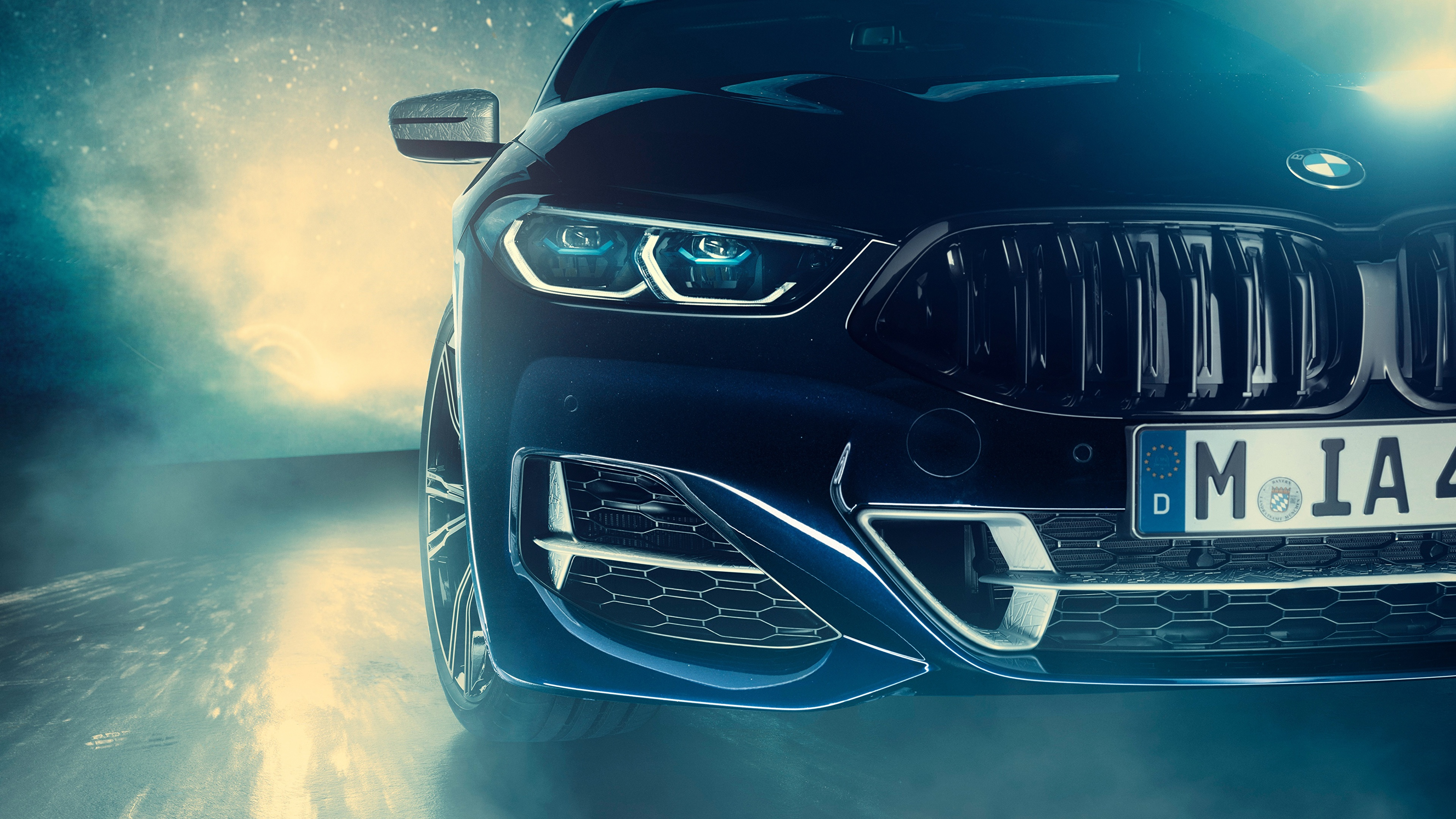 Wallpaper Bmw Individual 8 Series 2019 M850i Xdrive Night 3840x2160
