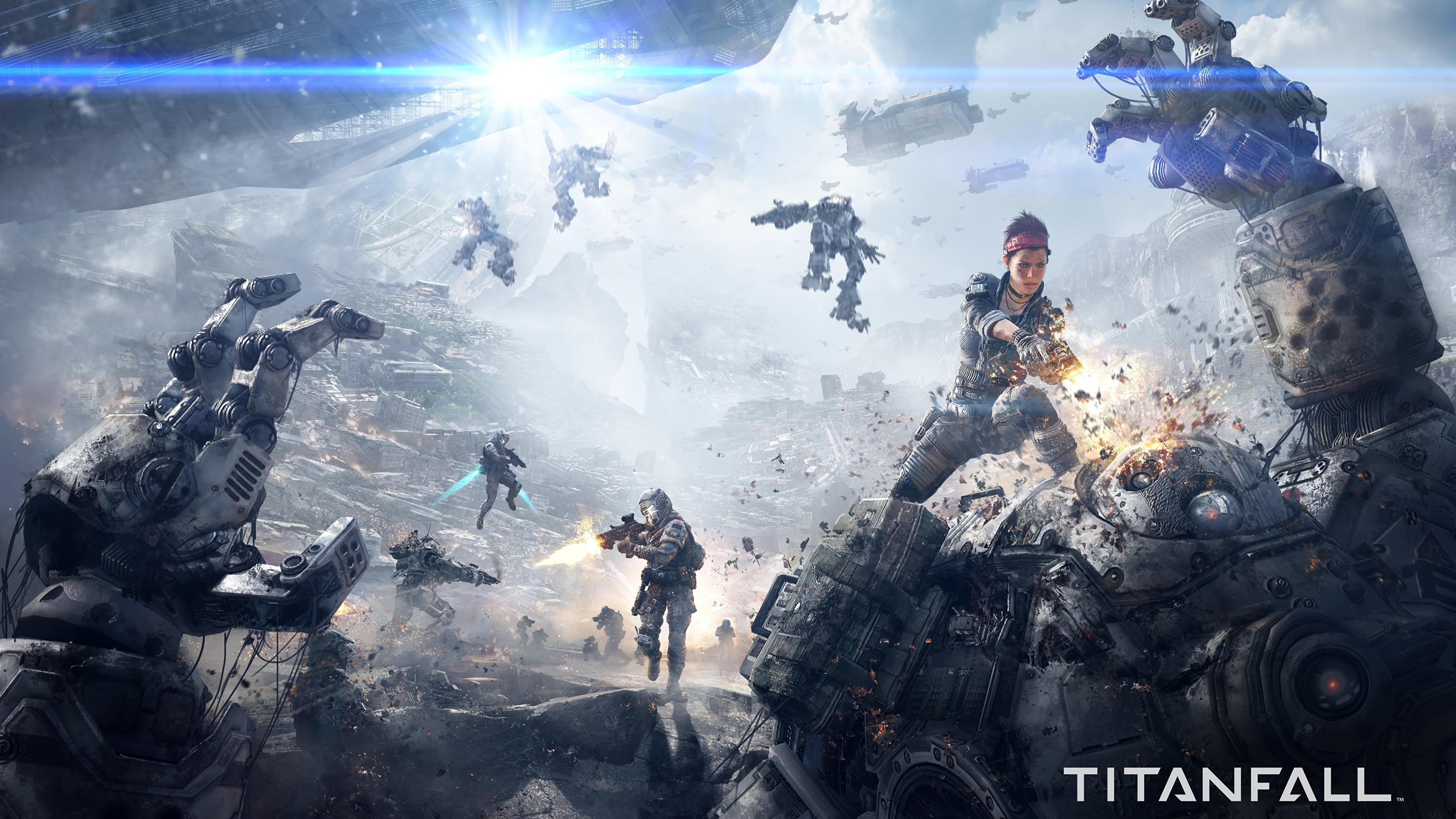 Images robots Warriors Titanfall Fantasy vdeo game 3840x2160