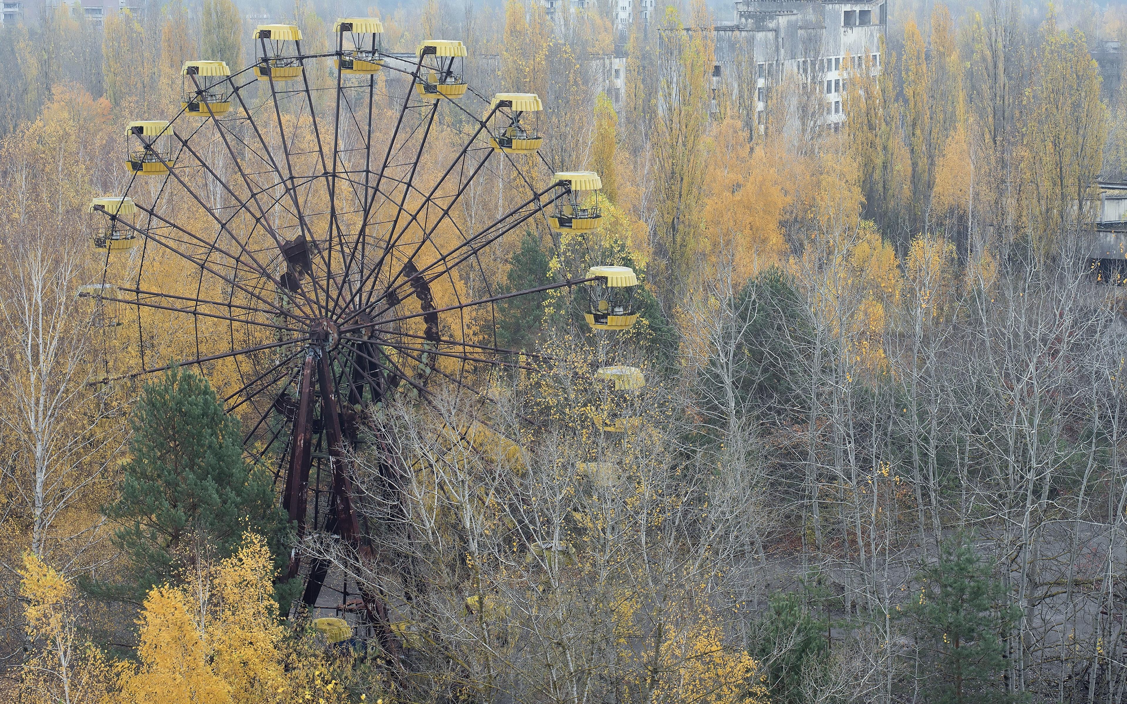 Picture Nature Ukraine Pripyat Abandoned Amusement Park 3840x2400