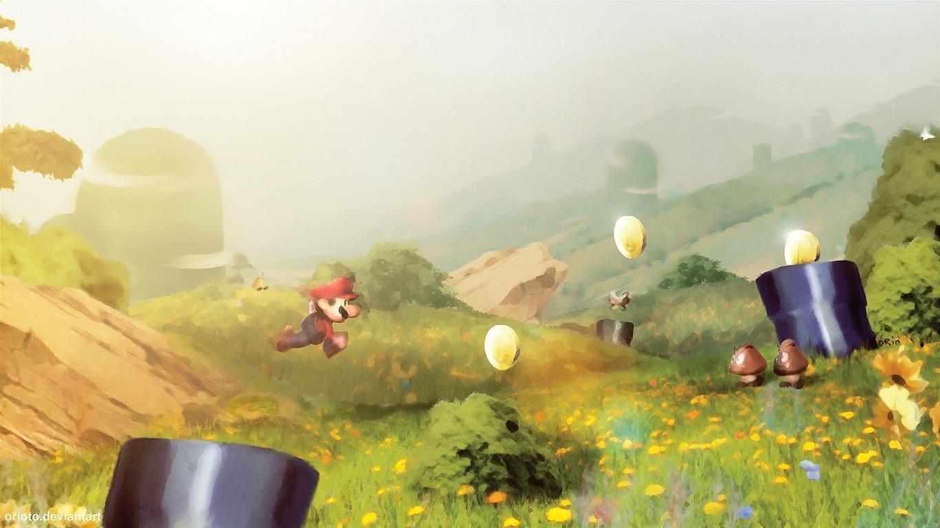 壁紙 1366x768 マリオシリーズ ゲーム ダウンロード 写真