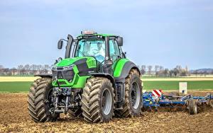 Hintergrundbilder Landwirtschaftlichen Maschinen Traktor Grün Deutz-Fahr 9340
