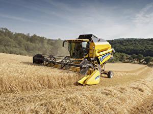 Bilder Landwirtschaftlichen Maschinen Acker Mähdrescher 2016-20 New Holland TC5.90 Hillside