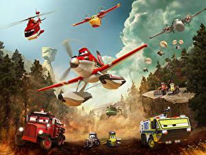 Hintergrundbilder Flugzeuge Planes: Fire and Rescue Zeichentrickfilm