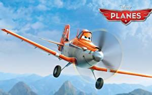 壁纸、、飛行機、Planes Walt Disney air race rally action adventure Dusty、漫画