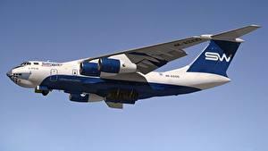 Hintergrundbilder Flugzeuge Transportflugzeuge Russische Ilyushin Il-76 Luftfahrt