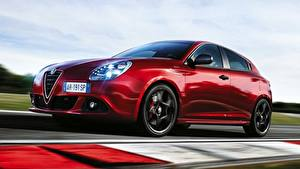 Hintergrundbilder Alfa Romeo Rot Bokeh Fahren Giulietta, Sprint Speciale, 2015 auto