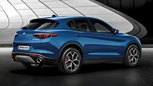 Hintergrundbilder Alfa Romeo Softroader Blau Stelvio, Sport, 2018 Autos