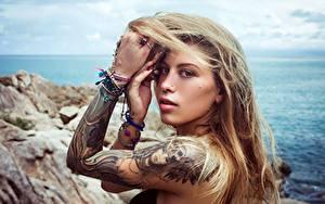 Wallpaper Hands Tattoos Hair Glance Pose Alha Adham, Alice Sudos female