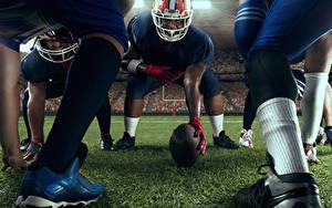 Hintergrundbilder American Football Mann Helm Ball Bein sportliches