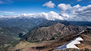 Bakgrunnsbilder Andorra Fjell Skyer Arinsal
