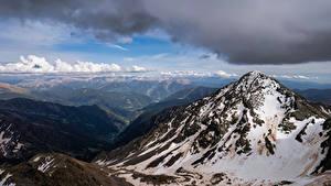 Bakgrunnsbilder Andorra Fjell Skyer Coma Pedrosa