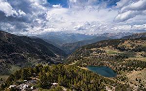 Hintergrundbilder Andorra Berg Parks Landschaftsfotografie Wolke Vall del Madriu-Perafita-Claror Natur