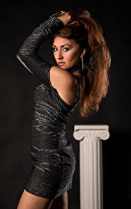 Bilder Posiert Kleid Blick Antea Mistica Mädchens