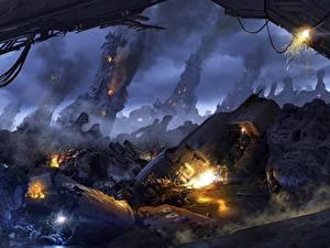 Hintergrundbilder Apokalypse Ruinen Aliens Colonial Marine computerspiel Fantasy