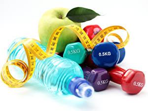 Fotos Äpfel Fitness Hantel Flasche Maßband 0.5KG