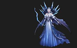 Fonds d'écran Archers Fond noir Les robes League of Angels NESSI Jeux Filles Fantasy