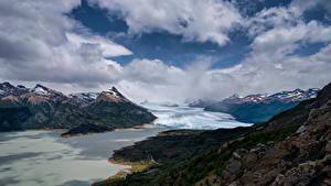Fotos Argentinien Berg Wolke Perito Moreno Glacier, Patagonia Natur