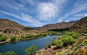 Bilder Argentinien Berg Flusse Himmel Patagonia Natur