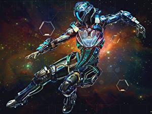 Wallpaper Armour Robots Fantasy Space Girls