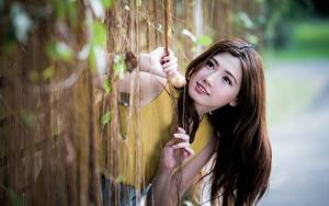Hintergrundbilder Asiaten Unscharfer Hintergrund Hand Starren Braune Haare Haar