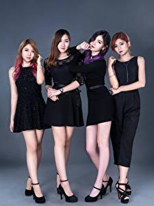 Hintergrundbilder Asiaten Braune Haare Brünette Vier 4 Posiert D' Soul Mädchens